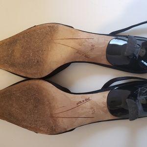 kate spade Shoes - Kate Spade black satin slingbacks sz 9 1/2